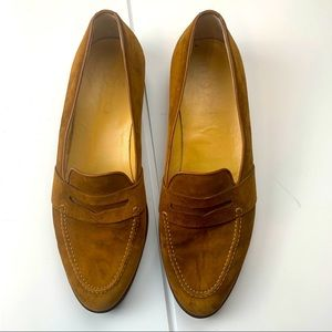 Gucci Tan Suede Penny Loafers Size 12.5(45D)